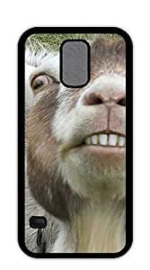 Plastic Phone Case Back Cover cell phone case for samsung galaxy s5 - funny goat's face