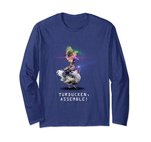 Unisex Funny Novelty Thanksgiving Holiday Turducken Shirt Small Navy