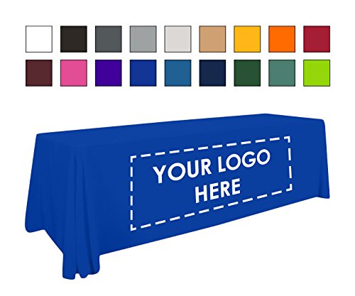Personalized Add Your Own Logo Custom Tablecloth 6' RoyalBlue Table Cover - Table Throw