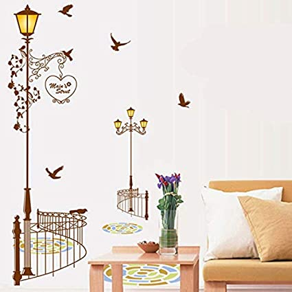 Amazon Com Gop Store Diy Home Decor New European Street Lamp Wall