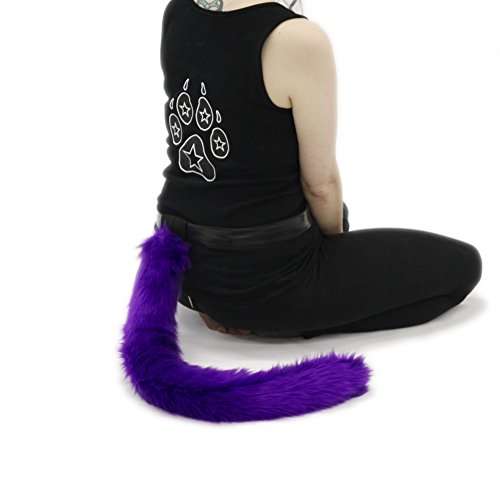 Pawstar Furry Kitty Cat Costume Tail Cosplay - (Pet Cat Fancy Dress Costumes)
