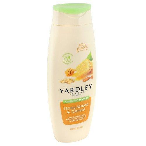 (Yardley of London Creamy Body Wash, Honey Almond 16 oz(pack of 2))