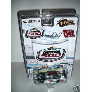 2009 Dale Earnhardt Jr #88 AMP Energy Green White Chevy Impala SS 1/64 Scale Car & 51st Running of Daytona 500 Commemorative Magnet 1/24 Scale Hood Winners Circle