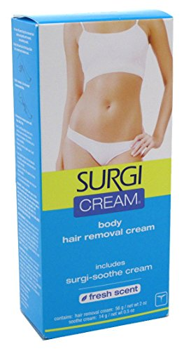 Surgi Cream Hair Remover Body 2 Ounce Fresh Scent (59ml) (6 Pack)
