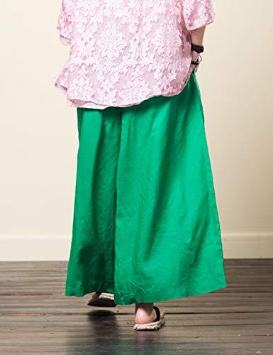 De Air Hippie Yoga Pantalon Plein Coton Pantalon Longue Vert Jambe Un BESBOMIG Pantalons Large Harem Loisirs Boho Lin 47Uqx61w