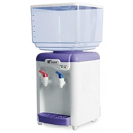 Dispensador de agua de 7 litros con dos grifos frió y caliente en Rebaja