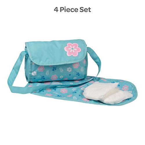 Adora Baby Doll Diaper Bag – Flower Power Diaper Bag with Baby Doll Accessories