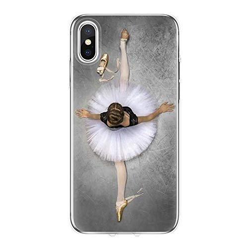 Twinlight Sexy Ballet Dancing Girls Ballerina Ballet Case for iPhone X Xs Max XR 6s 7 8 Plus (E, for iPhone 7 8) (4 Iphone Vw Case)