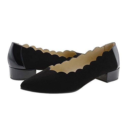 Negro Zapatos Piel Charol y Ante Un4PqnA