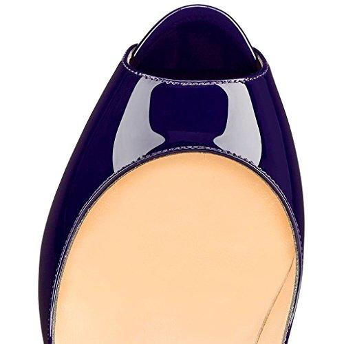 EDEFS - Zapatos con tacón Mujer azul marino