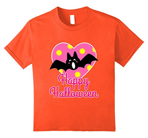 Kids Cute Bat Happy Halloween Costume Shirt for Toddler Girls Kid 8 (Tween Halloween Costumes Diy)