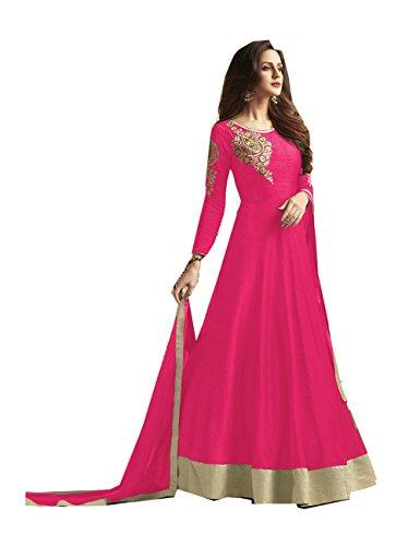 Da Facioun Indian Women Designer Partywear Ethnic Traditonal Pink Anarkali Salwar Kameez. by Da Facioun