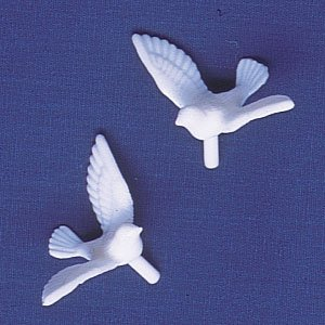 - Oasis Supply 12 Count Dove Cake Decorating Figures