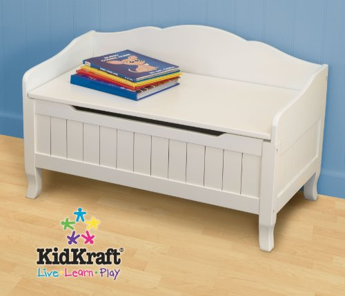 Kidkraft Nantucket Toybox with Out Cushi - White Childrens Bench Shopping Results