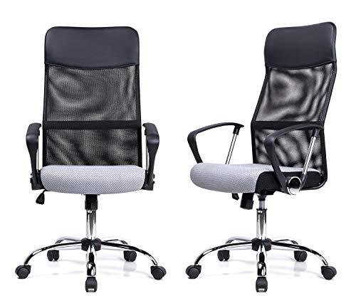 Exofcer Haute Dossier incurvé en Maille Home Chaise de Bureau Executive Ordinateur Chaise de Bureau pivotant réglable en…