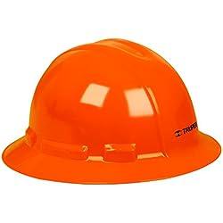 Truper CAS-NX, Casco de Seguridad, Ala Ancha, Naranja