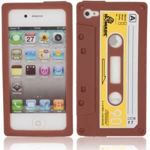 Tape Shaped Silicone Case for iPhone 4 Brown