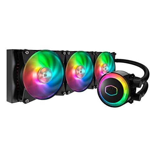 chollos oferta descuentos barato Cooler Master MasterLiquid ML360R RGB Refrigeración CPU a Liquido Iluminación ARGB Sync Diseño Bomba Premium y Ventiladores Triple MF120R ARGB