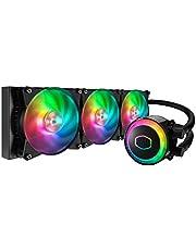 Cooler Master MasterLiquid ML360R ARGB Close-Loop AIO CPU Liquid Cooler, 360 Radiator, Dual Chamber Pump, Addressable RGB Lighting, Dual MF120R Fans for AMD Ryzen/Intel LGA1200/1151, 360mm (MLX-D36M-A20PC-R1)
