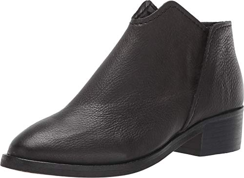 Dolce Vita Women's Trist Ankle Boot, Black Leather, 7.5 M US