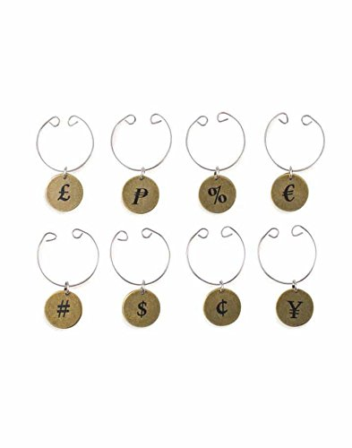 Wild Eye Designs Money Currency Wine Charms