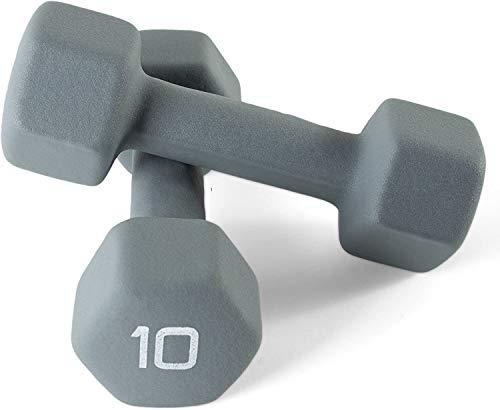 CAP Barbells Neoprene Dumbbell Hand Weights, Anti-Slip, Anti-roll
