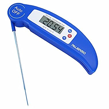 Palermo DTH-81 Digital Electronic BBQ Thermometer with Collapsible Internal Probe, Blue