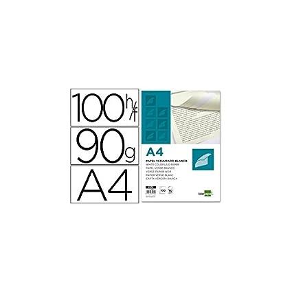 Liderpapel Papel Verjurado A4 90 g/m² Blanco Paquete De 100 ...