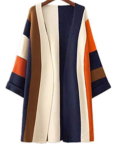 MoomTry Women's Fashion Cardigan Sweater Fringe Pattern Sweaters Coat Brown One size