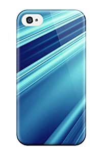 High Impact Dirt Shock Proof Case Cover For Iphone 4/4s Abstract Blue