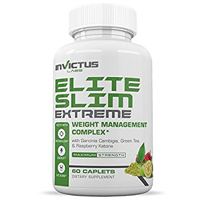 Elite Slim EXTREME-Extreme Weight Loss Pills That Work with Garcinia Cambogia Green Coffee Bean Raspberry Ketone Acai Berry Yacon Extract Green Tea Extract Appetite Suppressant & Diet Pill 60 Caps