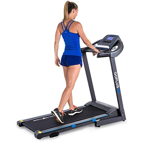 Goplus 2.25HP Electric Treadmill Foldable Running Jogging Fitness Machine for Home & Gym Black Jaguar Ⅲ