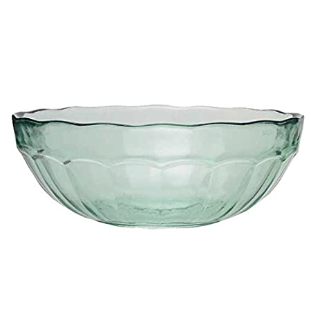 San Miguel Casual Glass Bowl 30cm - Made from Recycled Glass - Large ...
