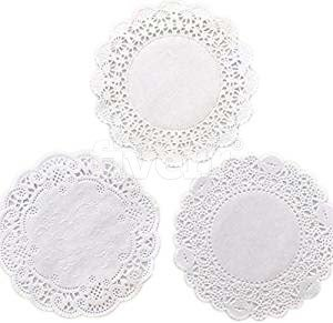 "150 ct. Variety Pack 4"" Paper Lace Doilies Cambridge Franch Royal - 50 of each"