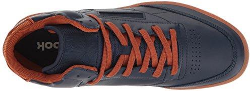 Reebok Heren Club C Mid Cord Mode Sneaker Collegiaal Marine / Gember / Papier Wit / Rbk Messing-gom