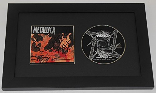 Metallica Reload James Hetfield Lars Ulrich Kirk Hammett Jason Newsted Group Signed Autographed Music Cd Cover Compact Disc Framed Display Loa