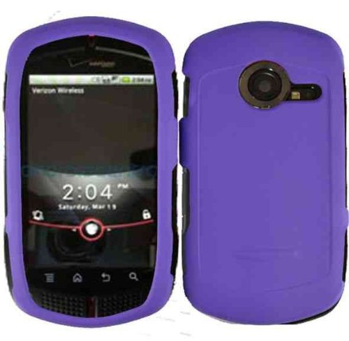 Casio G'zOne C771 Rubberized Dark Purple HARD PROTECTOR COVER CASE/SNAP ON PERFECT FIT