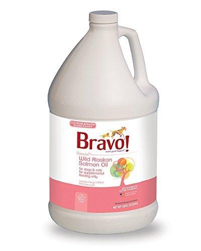 Bravo Wild Alaskan Salmon Oil for Dogs and Cats, 1 Gallon Bottle