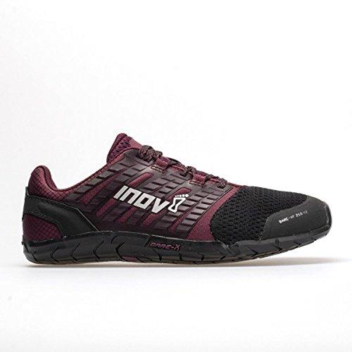 Inov-8 Womens Bare-XF 210 V2 - Barefoot Minimalist Cross Training Shoes - Zero Drop - Wide Toe Box - Versatile Shoe for Powerlifting & Gym - Calisthenics & Martial Arts - Black/Purple 5.5 W US