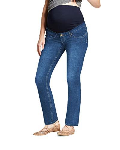 Super Comfy Stretch Women's Maternity Bootcut Jeans PM2835JPX Medium BLUE1 3X (Maternity Plus Size Clothes)