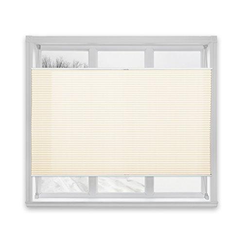casa pura® Plissee Rollo | mit eleganter Crushed Optik | auch ohne Bohren anbringbar | lichtdurchlässig & blickdicht | offwhite | 24 Größen (110x150cm)