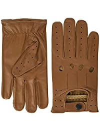 TOP QUALITY 507 REAL SOFT LEATHER MEN'S DRIVING GLOVES, TAN