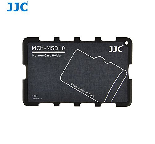 JJC Memory Card Case for 10x microSD Cards - Gray Edition - MCH-MSD10 MCH-MSD10GR