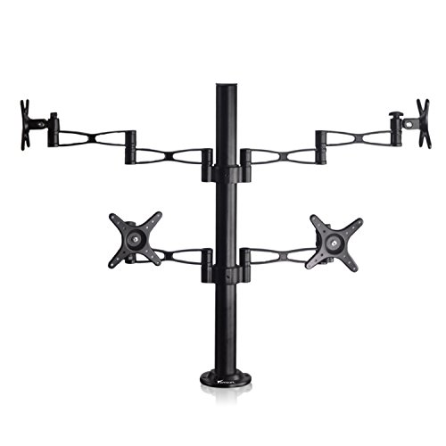 Vemount Quad Monitor Mount Computer Desk Mount Stand Full...