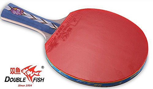 Double Fish 5-Star Ping Pong Paddle, Advanced Training Table Tennis Racket With Carry Bag And Microfiber Cleaning Cloth In Gift Box (D-5A)