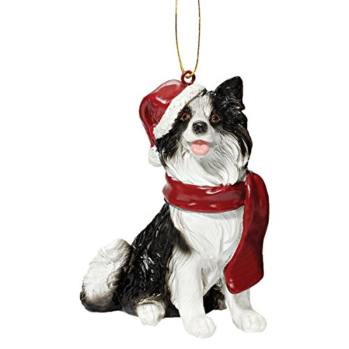 - Design Toscano Christmas Ornaments - Xmas Border Collie Holiday Dog Ornaments