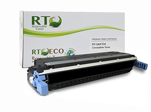 Renewable Toner 501A Compatible Toner Cartridge Replacement HP Q6470A for HP Color LaserJet 3600, 3800, CP3505 Series (3800 Series Color Laser Printers)