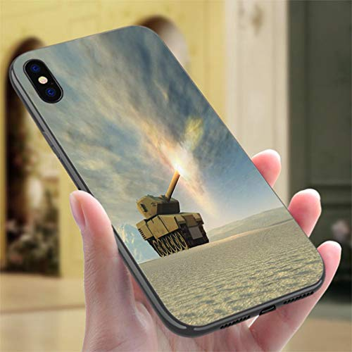 IPhone7P/8P Color case Battle Tank Firing Resistance to Falling, Non-Slip,Soft,Convenient Protective Case