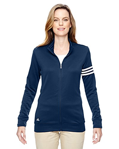 - adidas Womens Climalite 3-Stripes Pullover (A191) -Navy/White -S