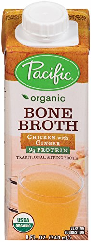 Pacific Foods Organic Bone Broth Chicken with Ginger, 8 oz